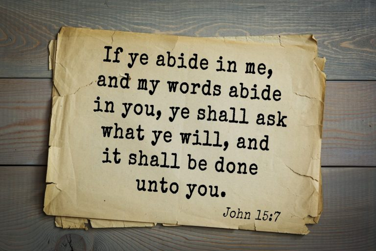 What Does It Mean to Abide in God's Word?